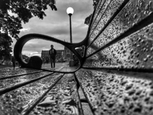 """Bruno Chalaupka """"Perspective of bench"""""""